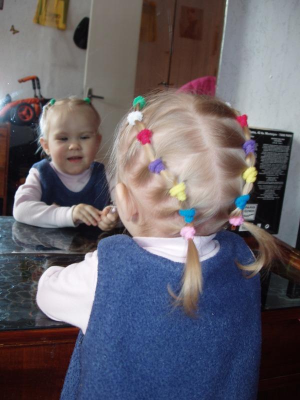 Прическа для девочки для коротких волос фото