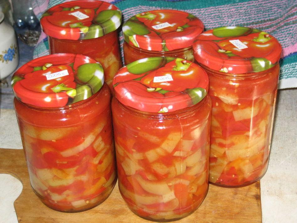 Заготовки капуста перец болгарский помидоры уксус