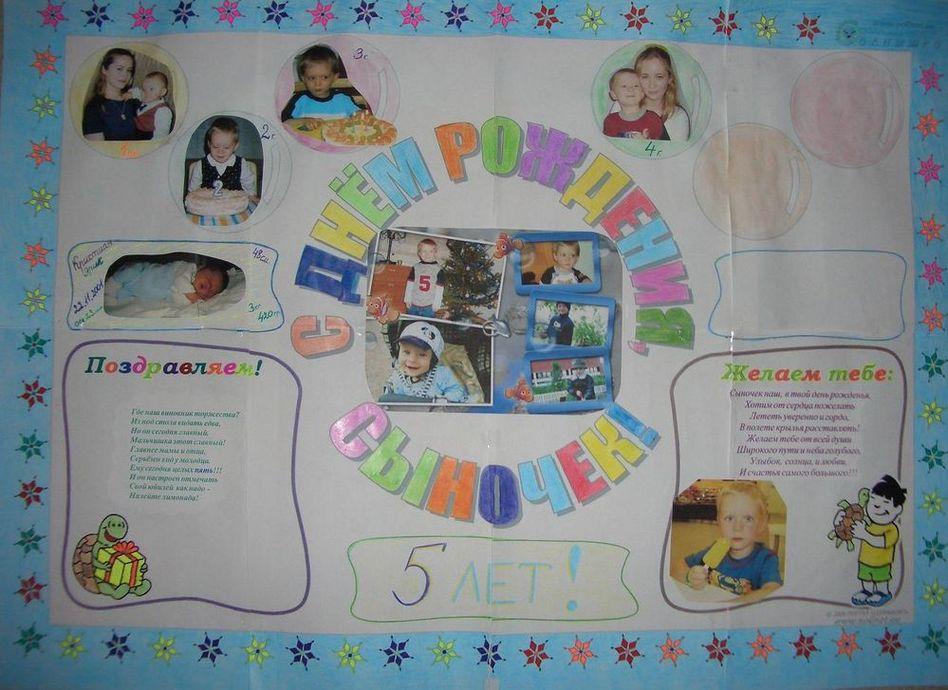 Оформить плакат к дню рождения своими руками 500