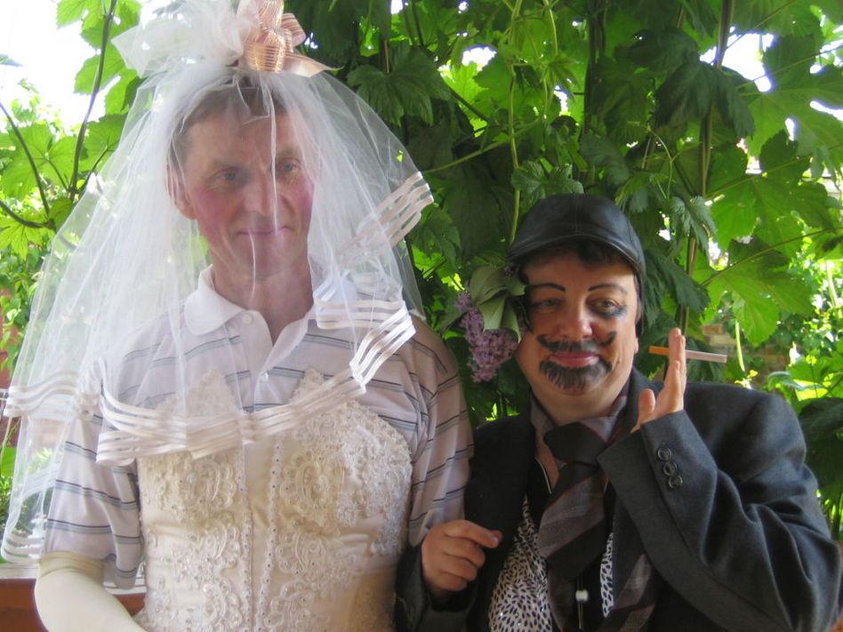 Поздравление от ряженые на свадьбе