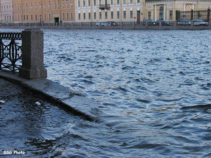 вчерашнее наводнение в Питере