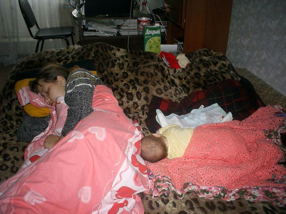 Фото как мама спит