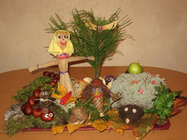Поделки в детский сад на тему осень