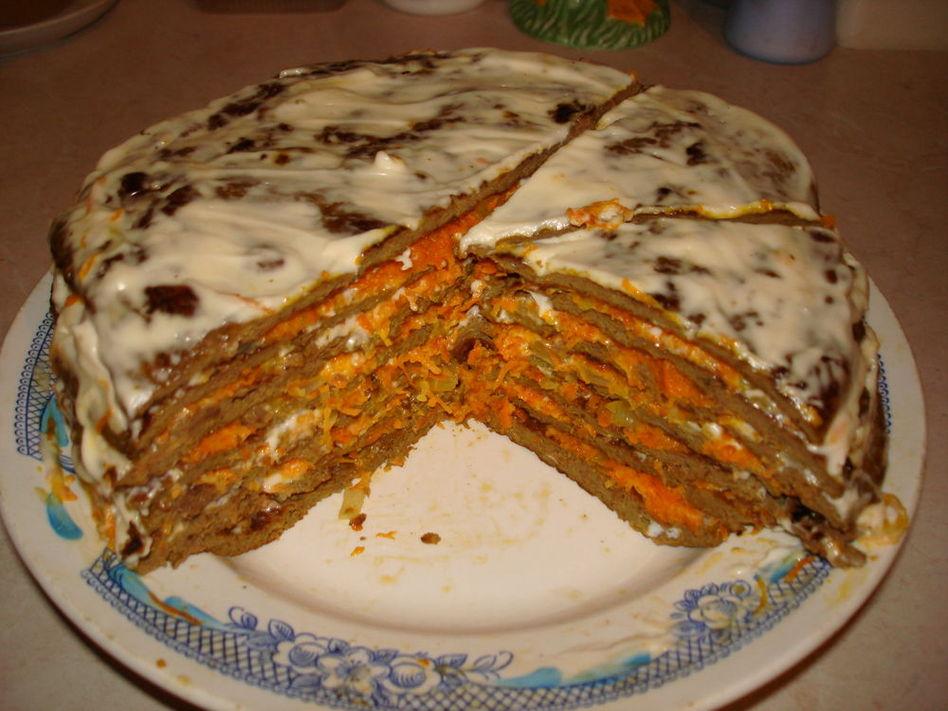 Рецепт печёночного торта с фото