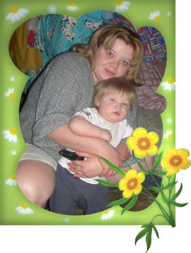 с мамой в обнимку