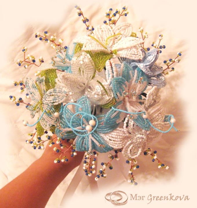 Свадебный букет из бисера схема - Делаем фенечки своими руками.