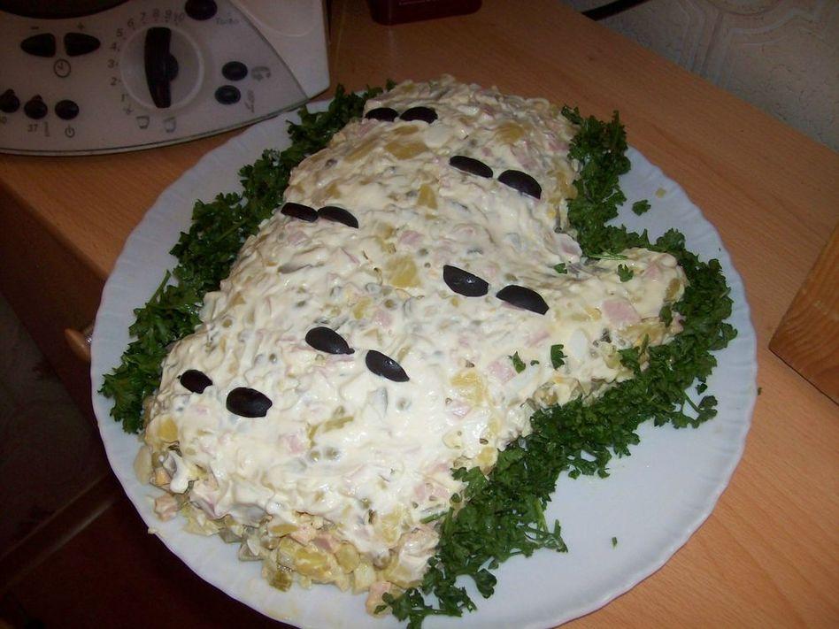 Салат белая береза / кулинарные рецепты с фотографиями