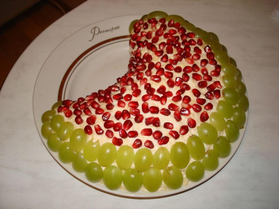 Салат арбузная долька фото