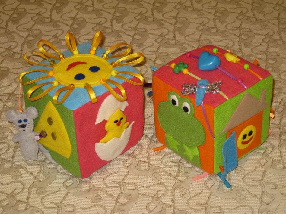 Кубик развивающий своими руками для детей