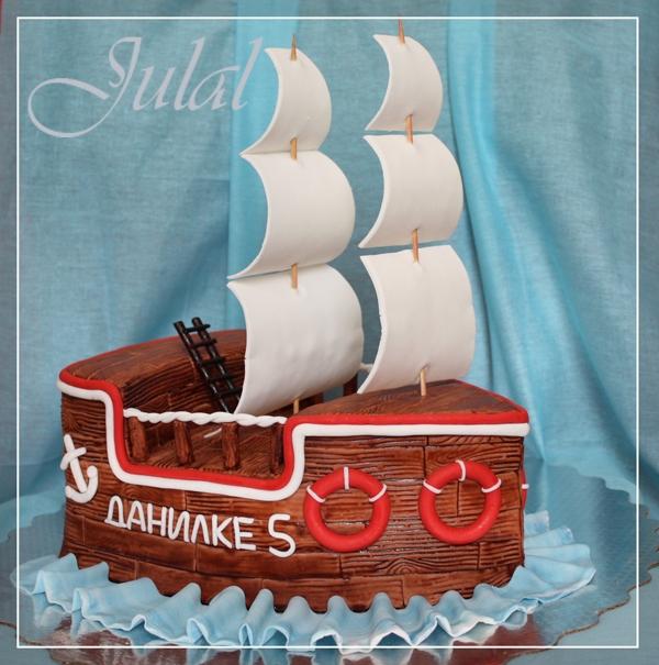 Торт корабль фото и рецепт