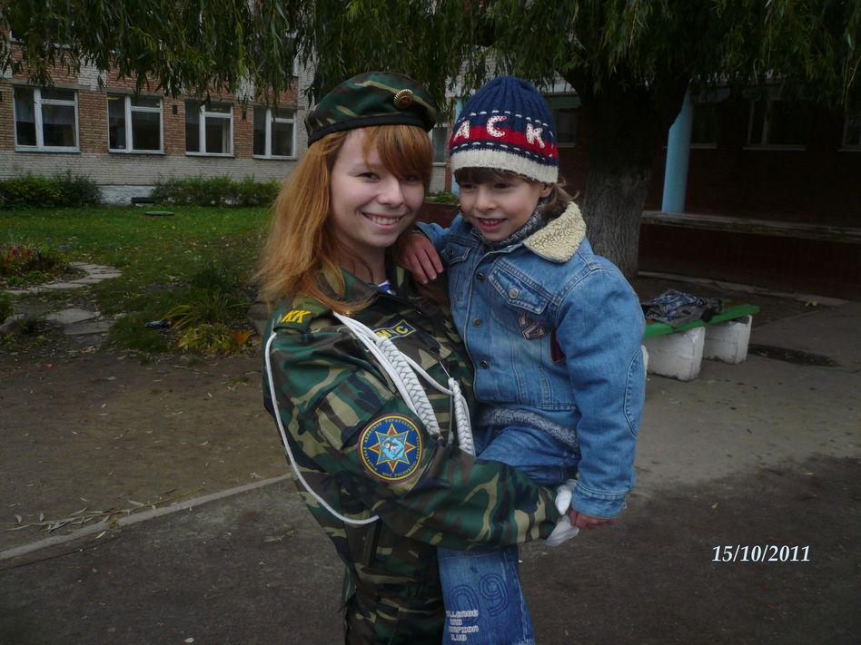 С сестричкой!