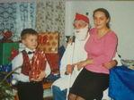 Мама рассказывает стих Деду Морозу