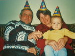 Первый день рождения. С бабой и дедой.