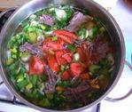 Супчик из тыквы на мясном бульоне