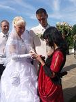 Свадьба подруги. Цыганка нагадала счастливое будущее.