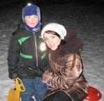 С мамой на горке