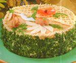 Закусочный торт с сельдью