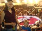 Мама и сынуля в цирке