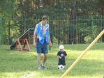 Слава с Кириллом играют в футбол