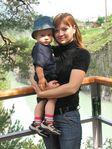 я с Кириллом возле острова Патмос