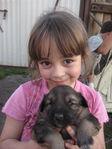 Лиза с щенком