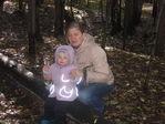 Я и доченька в лесу