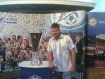 Мой муж с кубком УЕФА