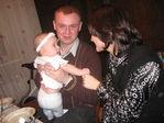 Мой 28 день рождения (брат со своей девушкой Наташей и Алисой)