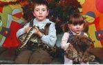 доченька Надя и племянник Ваня в цирке 5.01.09