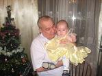 Новый 2009 год с дедом (6 месяцев и 24 дня)