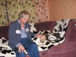 С дедом...