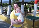 с папой в аквапарке