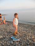 на пляже)