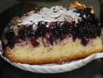 Черничный торт с миндалем (из какого-то журнала)
