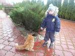 Котика на прогулку вывели!