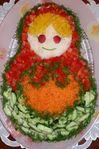 Овощной салат Матрешка