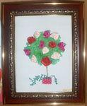 Розовое дерево - вышивка лентами