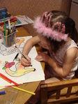 творческий процесс только что проснувшихся принцесс ))