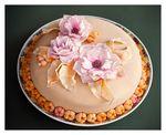Мой первый тортик с нуля:)