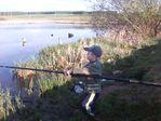 Никита на рыбалке