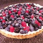 Сырный торт с ягодами