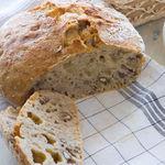 Домашний хлеб с грецкими орехами