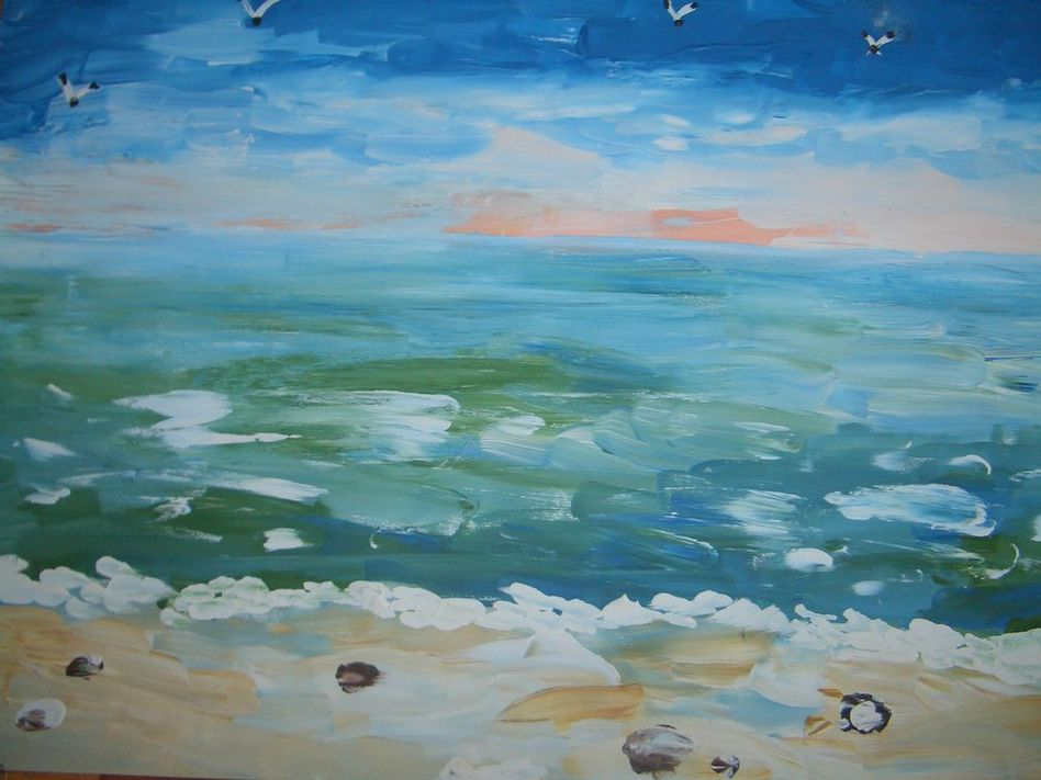 закат на море