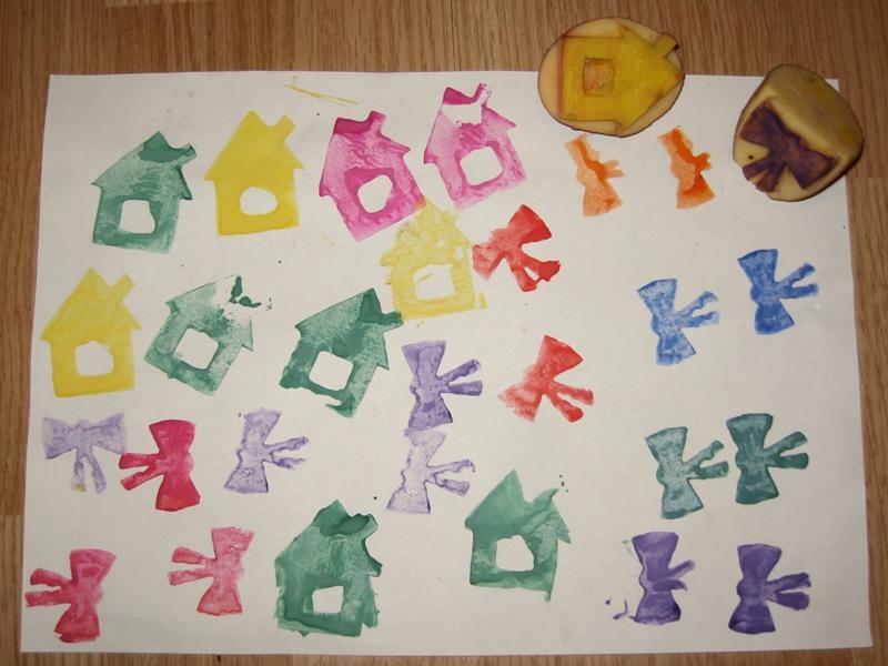 Печати для рисования детям