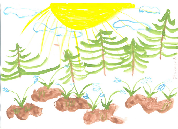 Детские рисунки: Весна пришла!!!