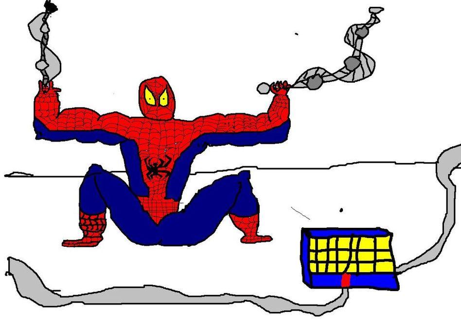 Рисунок спайдермен