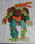 Ромкины раскрасски. Черепаха-ниндзя. 4,6